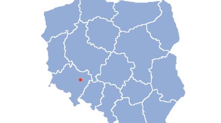 Вроцлав на карте Польши