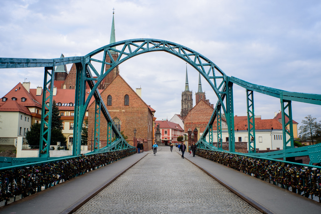 Тумский мост, Вроцлав, 2016 г.вид на Тумский Остров