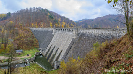 плотина, Озеро Быстрицкое (zapora wodna, Bystrzyckie jezioro, Zagórze Śląskie)