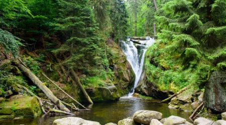 водопад Szklarki (wodospad Szklarki, Szklarska Poręba)